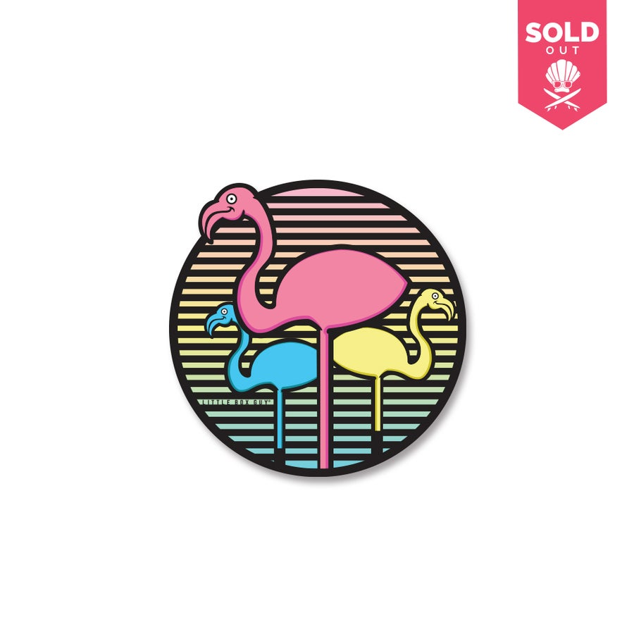 Image of Gradient FRSH Flamingo (Die-cut Sticker)