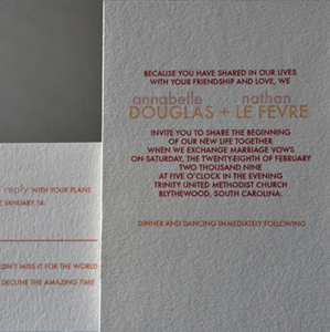 Image of Charmed invitation suite