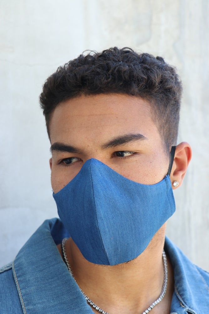 Image of The wala filter face mask- denim