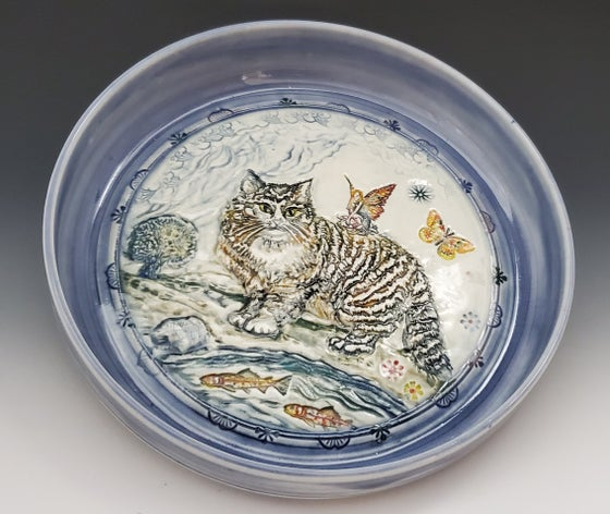 Image of Porcelain Norwegian Cat Frolic Dish
