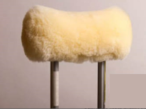 "Image of MEDICAL SHEEPSKIN CRUTCH COVERS 8"" X 4.5"" - NATURAL"