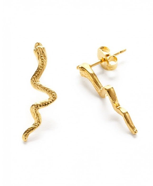 Image of Amano Gold Serpent Stud Earrings