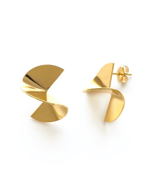 Image of Amano Gold Spiral Stud Earrings