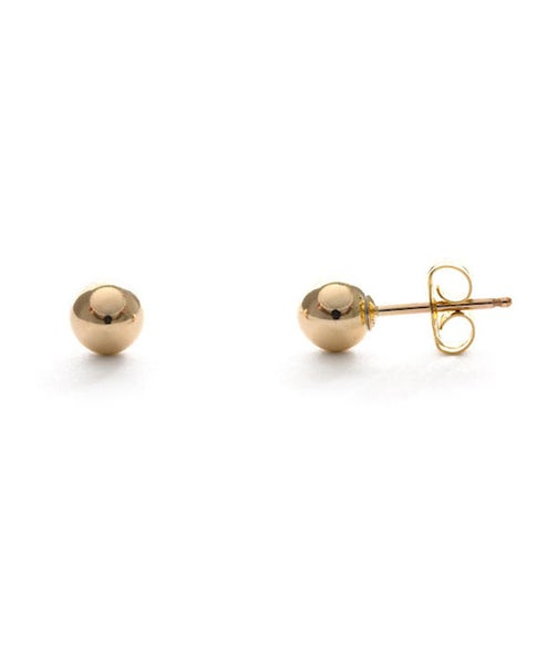 Image of Amano Gold Ball Stud Earrings