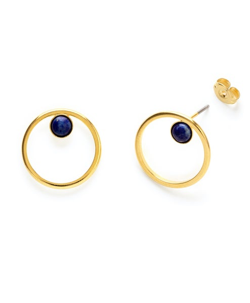 Image of Amano Lapis Orbit Stud Earrings