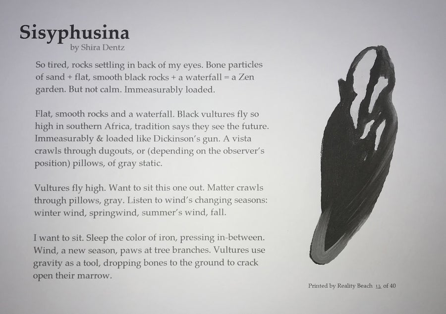 Image of Sisyphusina by Shira Dentz - Broadside
