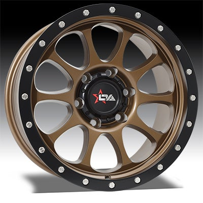 Image of Versus Wheels - RAZOR - SATIN BRONZE & BLACK LIP 1
