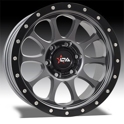 Image of Versus Wheels - RAZOR - SATIN GREY & BLACK LIP