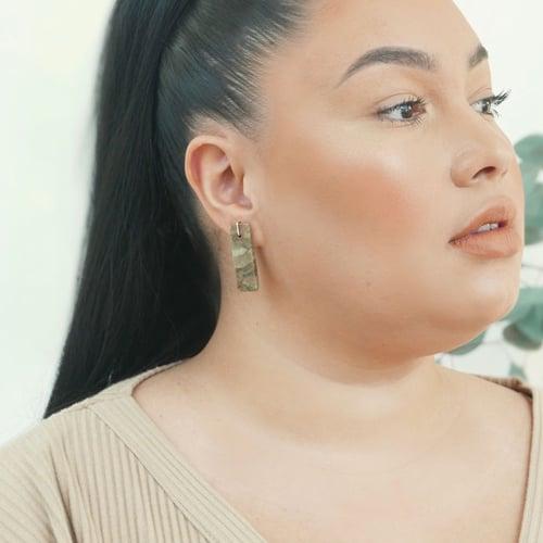 Image of Porcelain Jasper Tab Earrings