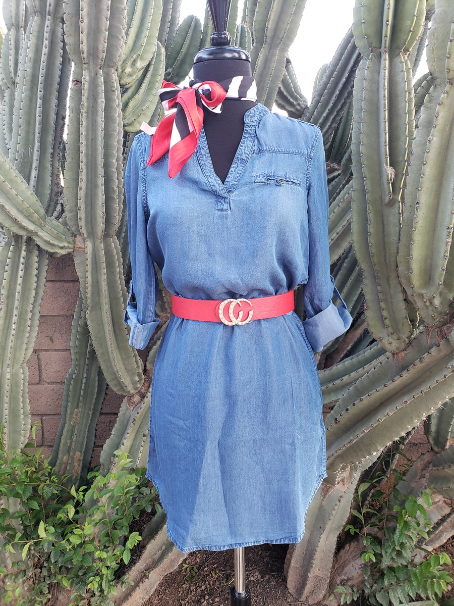 Image of Liz Denim Dress
