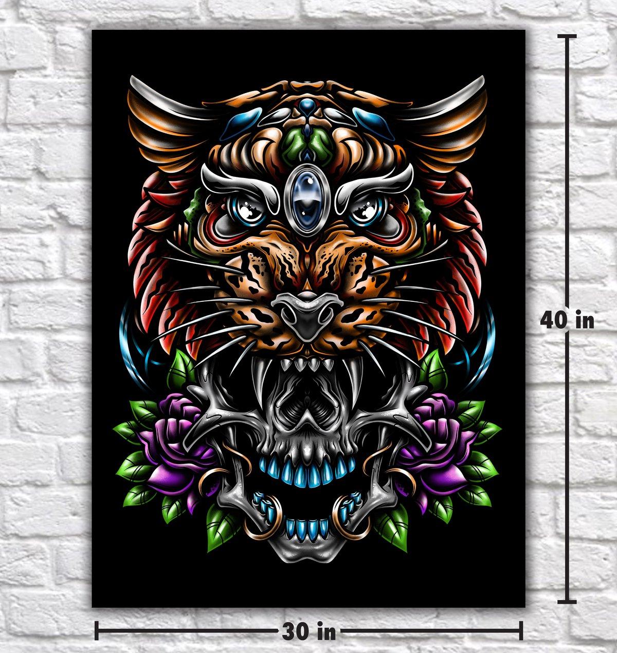 Image of Tiger Skull Color canvas print