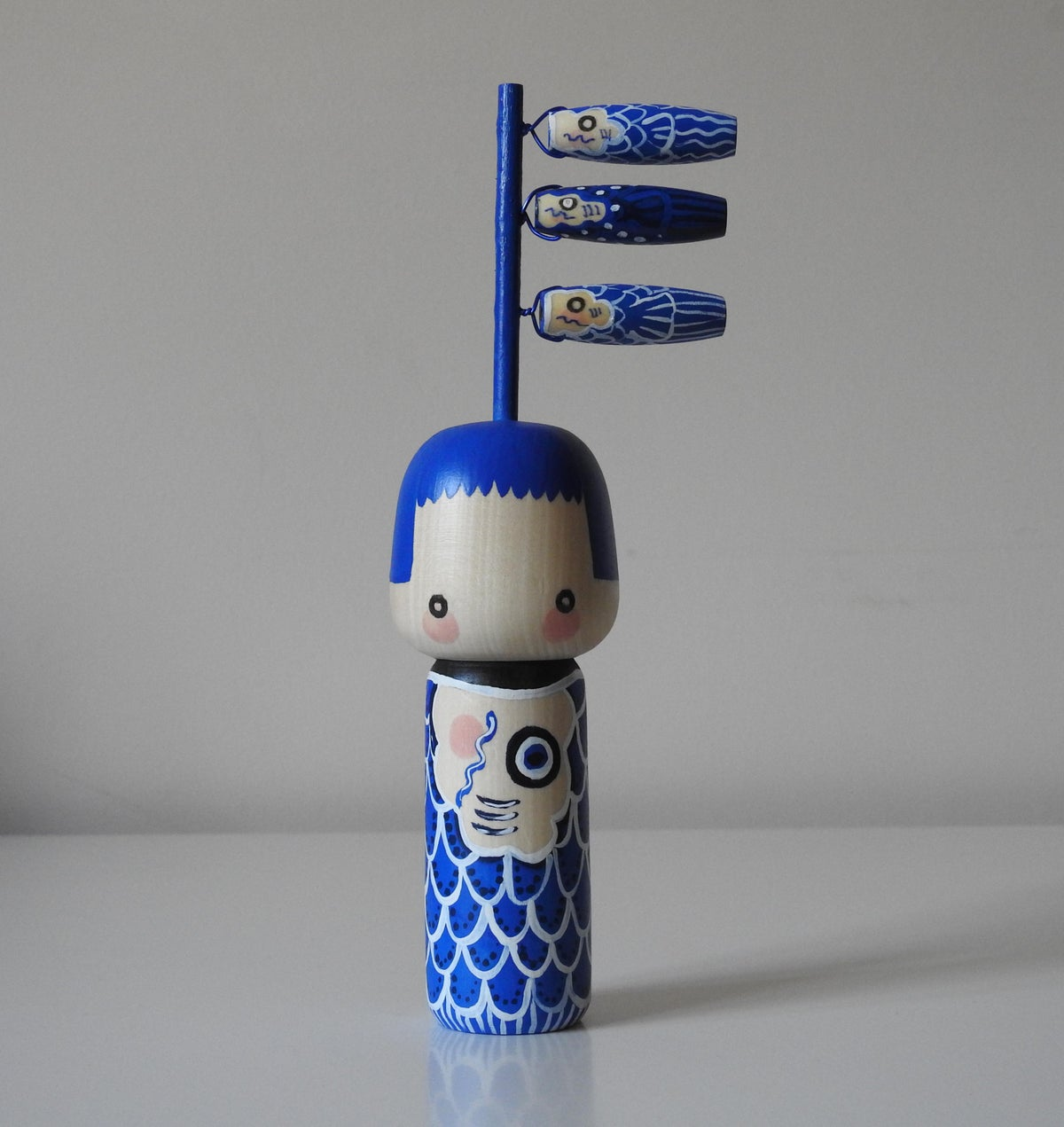 Image of Koinobori Girl (Cobalt)