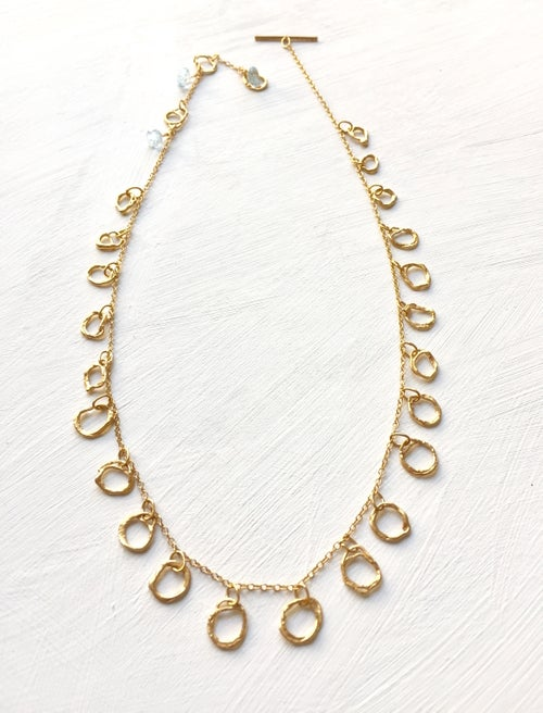 Image of Indian summe necklace yellow gold- Blue Topaz 1