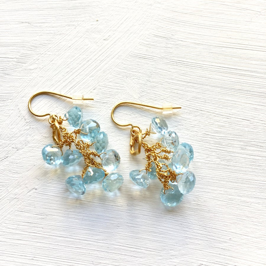 Image of Indian Summer Cluster Earrings #2