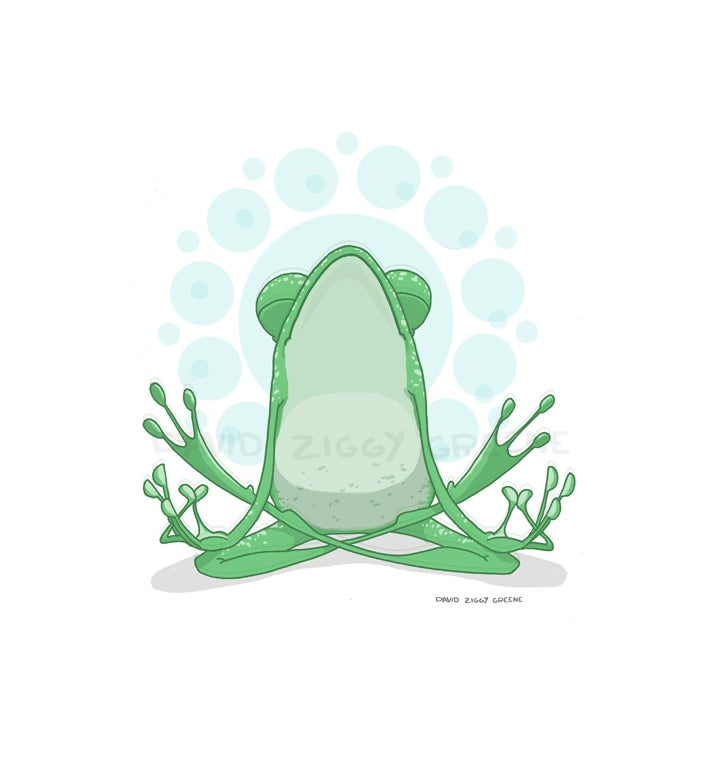 Yoga Frog greeting card set