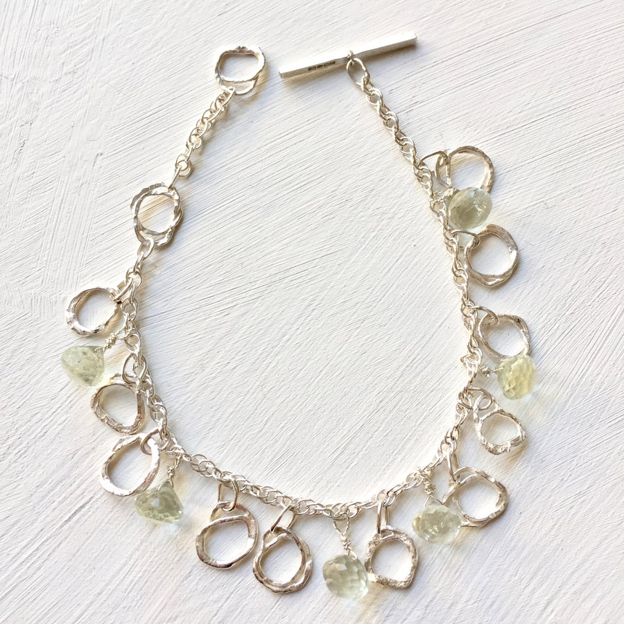 Image of Indian summer bracelet sterling silver - green Amethyst