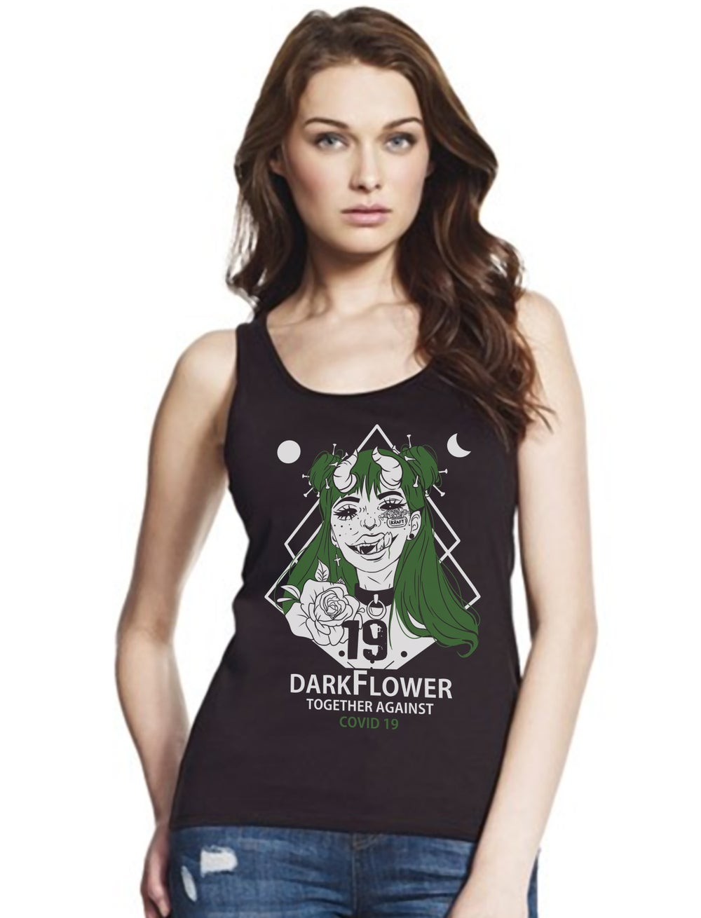 "Darkflower Retter Tank Top Ladies ""Lady Covid"""