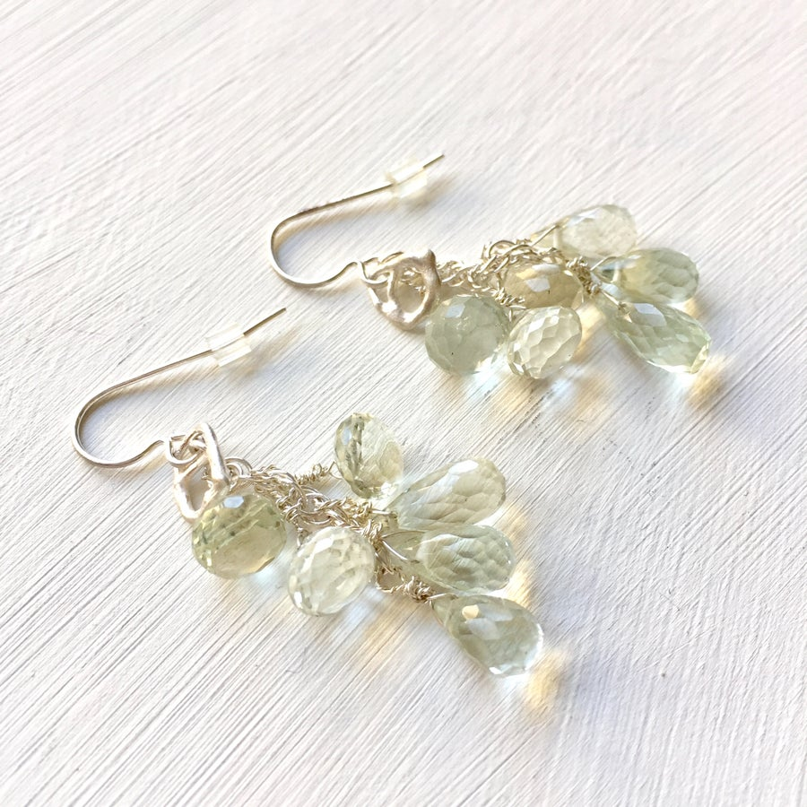 Image of Indian Summer Cluster Earrings #1