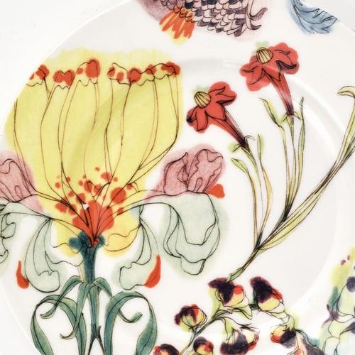 "Image of The Grandma's Garden Bread Plate ""A"""