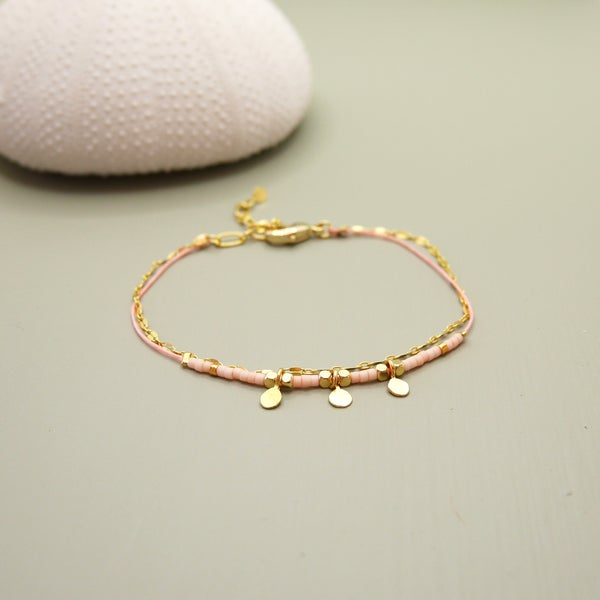 Image of Bracelet Romane rose