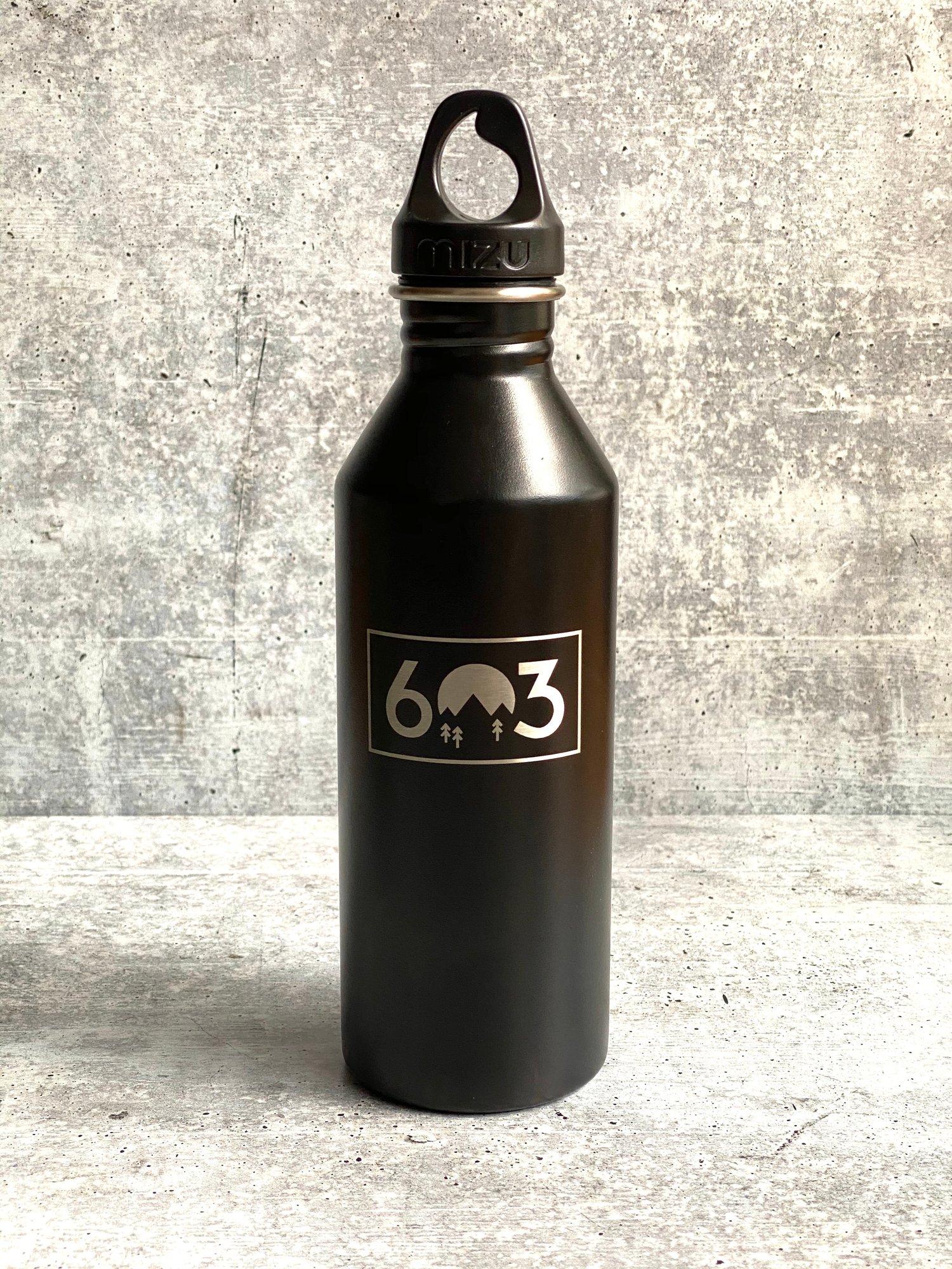 Image of 603 logo - black - 25 oz Single Wall Narrow Mouth Bottle