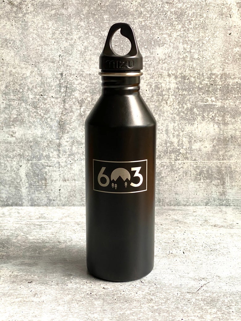 Image of 603 logo - black - 25 oz Single Wall Narrow Mouth Bottle