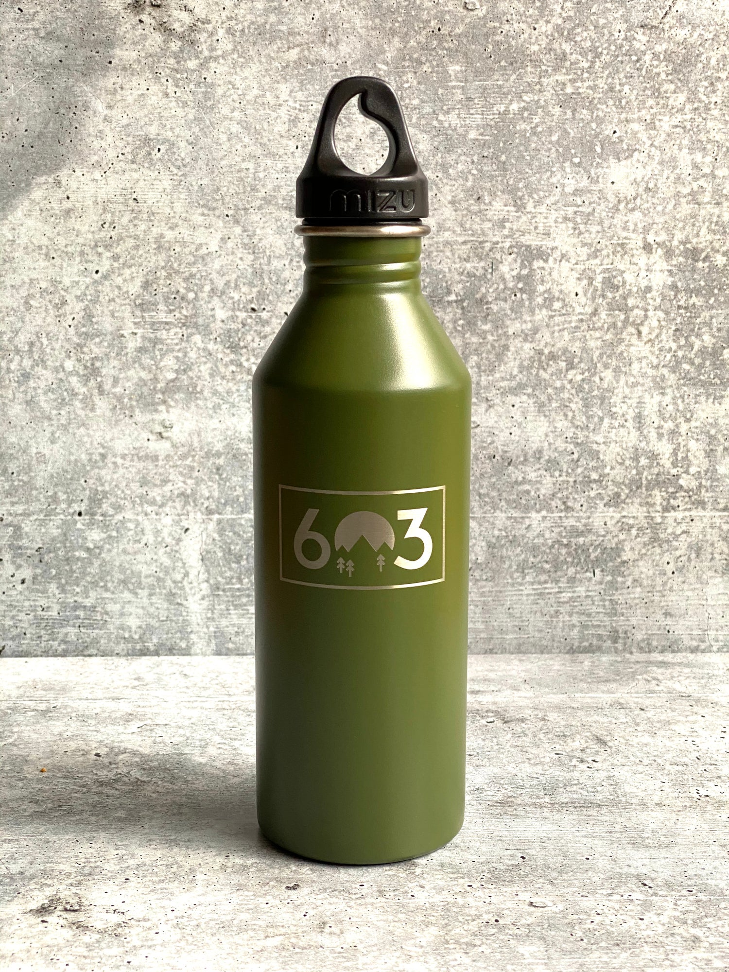 Image of 603 logo - Army Green - 25 oz Single Wall Narrow Mouth Bottle