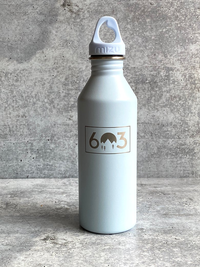 Image of 603 logo - Light Blue - 25 oz Single Wall Narrow Mouth Bottle