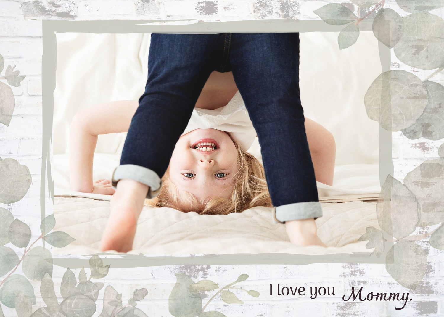 Image of Mother's Day Photoshop Template - Sage Foliage
