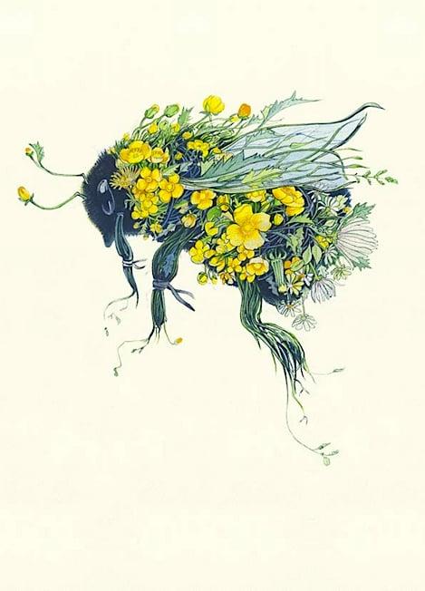Image of Bumblebee Card