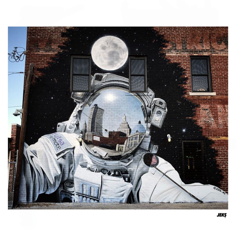 Image of Limited Edition - Spaceman in Tulsa Mural
