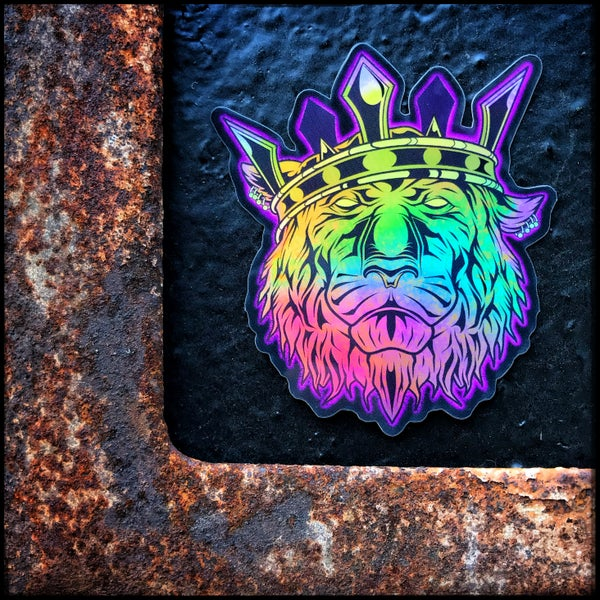 Image of Liger King holographic sticker