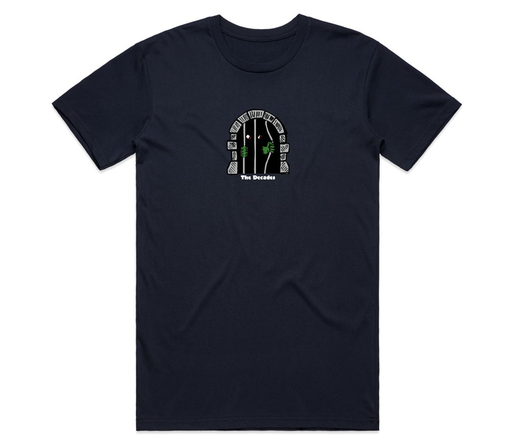 Image of Caged In tee navy