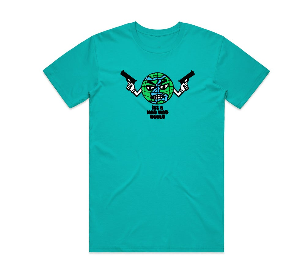 Image of Mad World Tee teal
