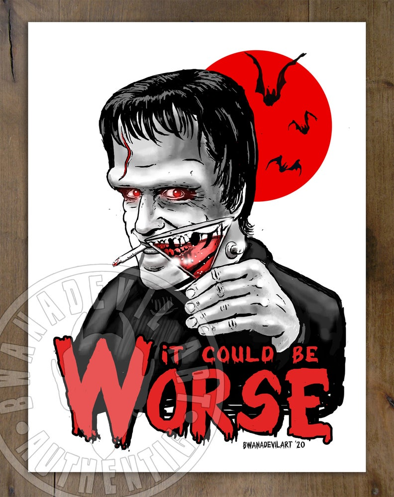 Image of Herman Munster (It could be worse) Art Print 9 x 12 in.