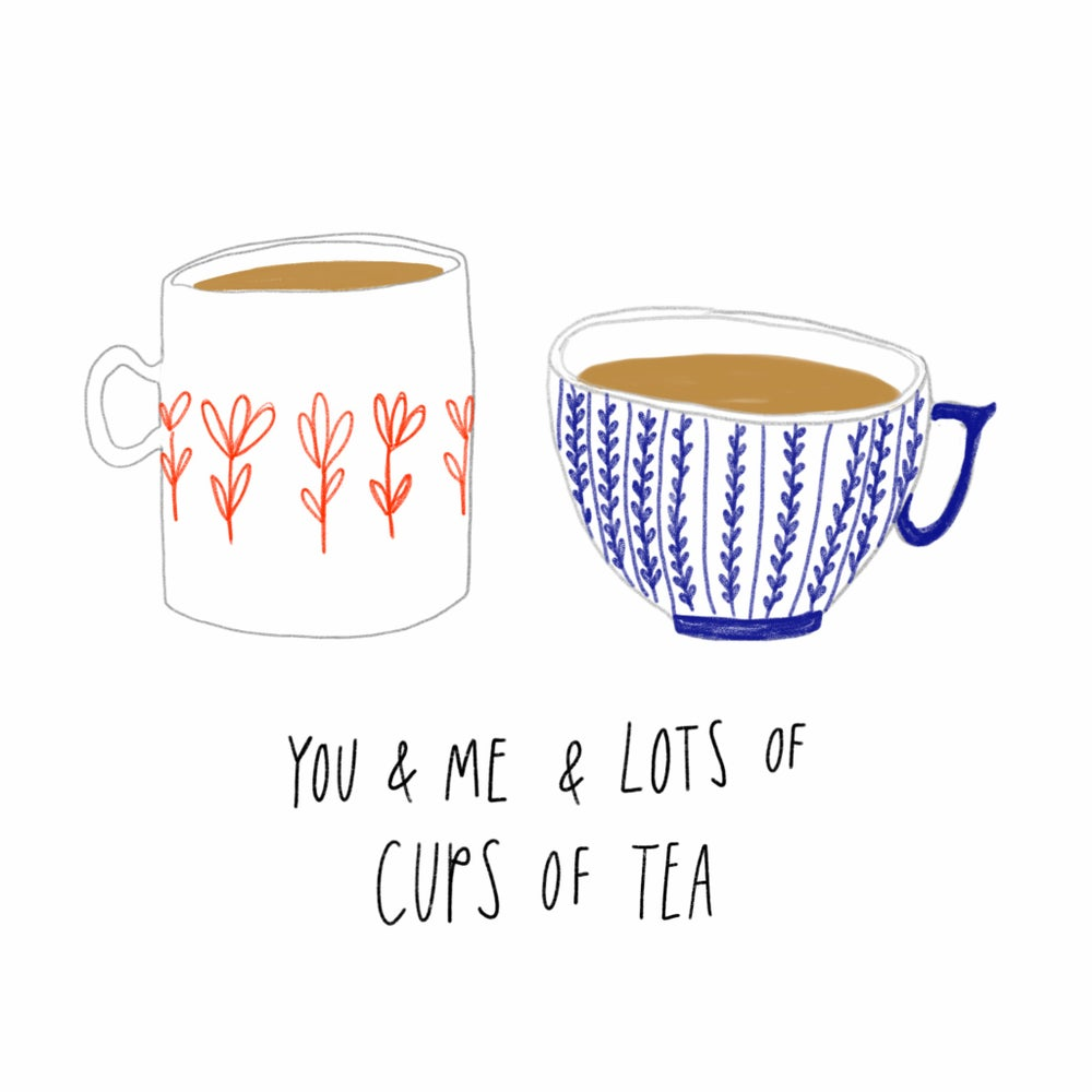 Image of You & Me & Tea Mini Print