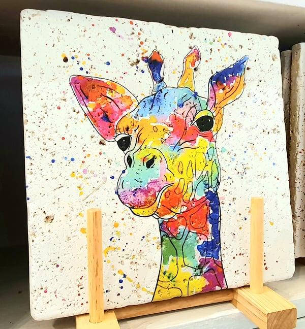 Image of Rainbow Giraffe Stone Mats