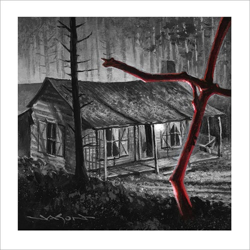 """Abandoned Cabin"" - 5"" x 5"" giclee"