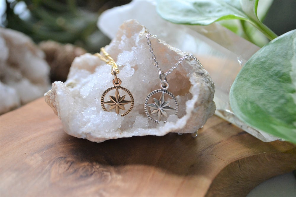 Image of Petite compass necklace