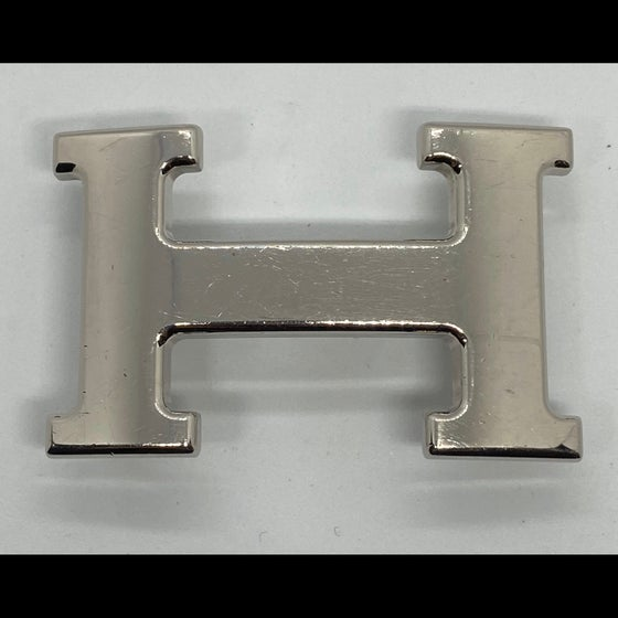 Image of Hermès Silver Tone H Belt Buckle