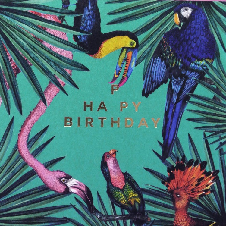 Image of Tropical Birthday Card