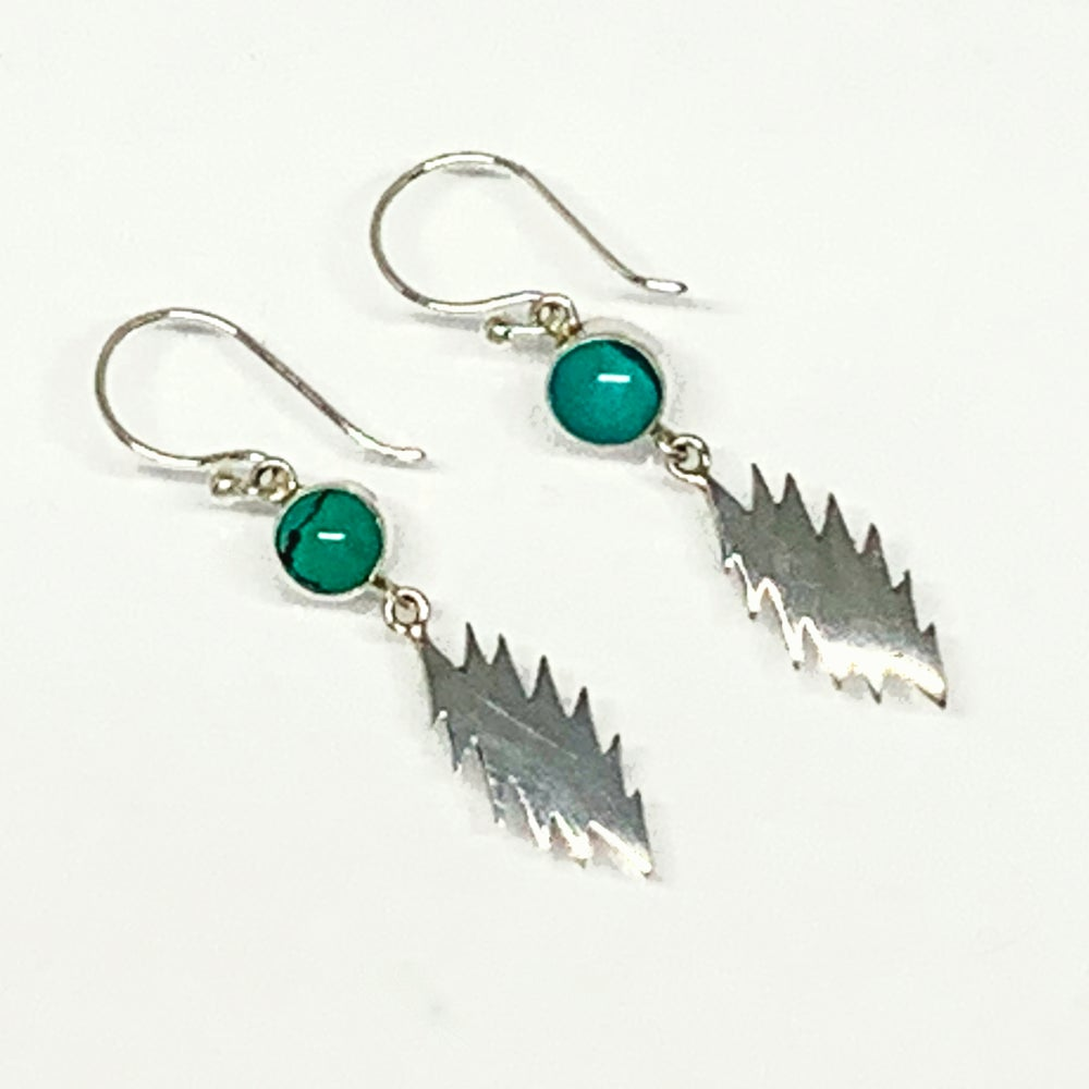 Image of 13 Point Bolt with Turquoise Earrings