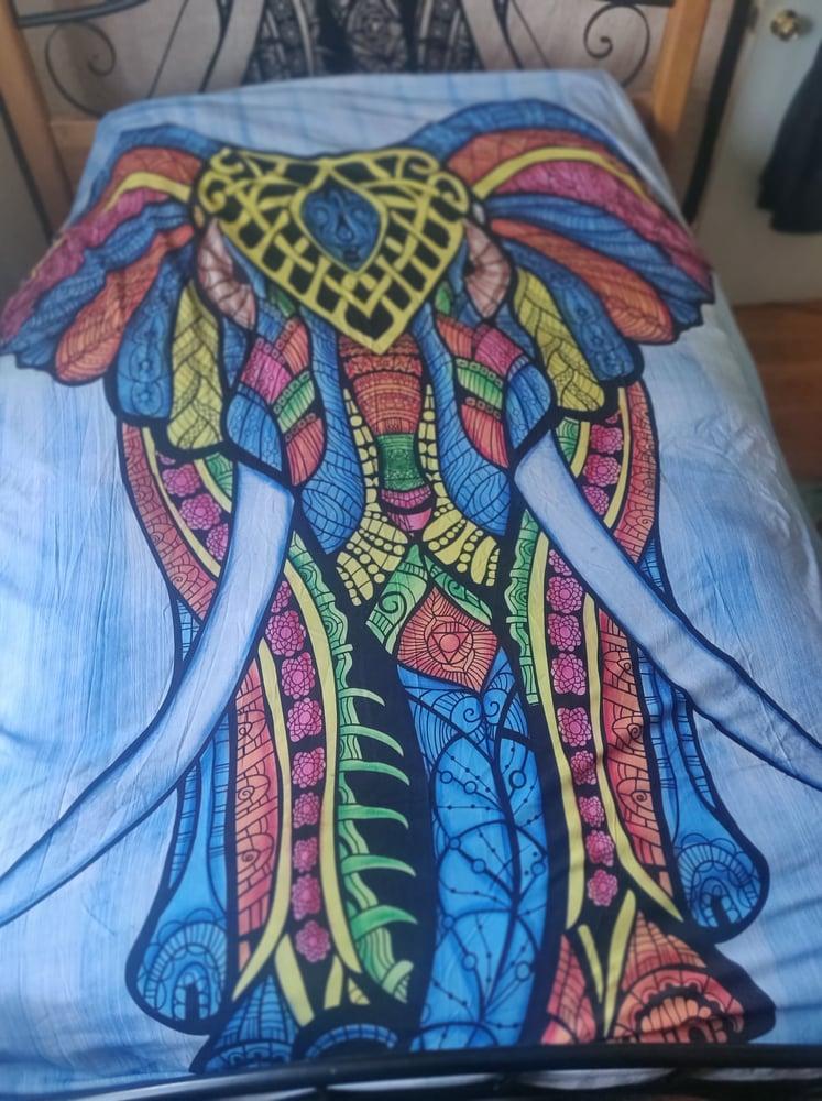 Image of Brushed Elephant Tapestry