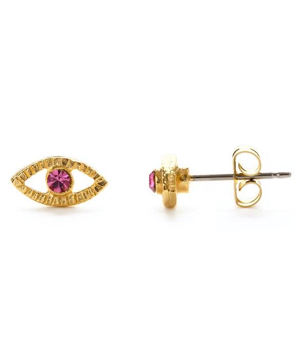Image of Amano Rose Crystal Eye Stud Earrings