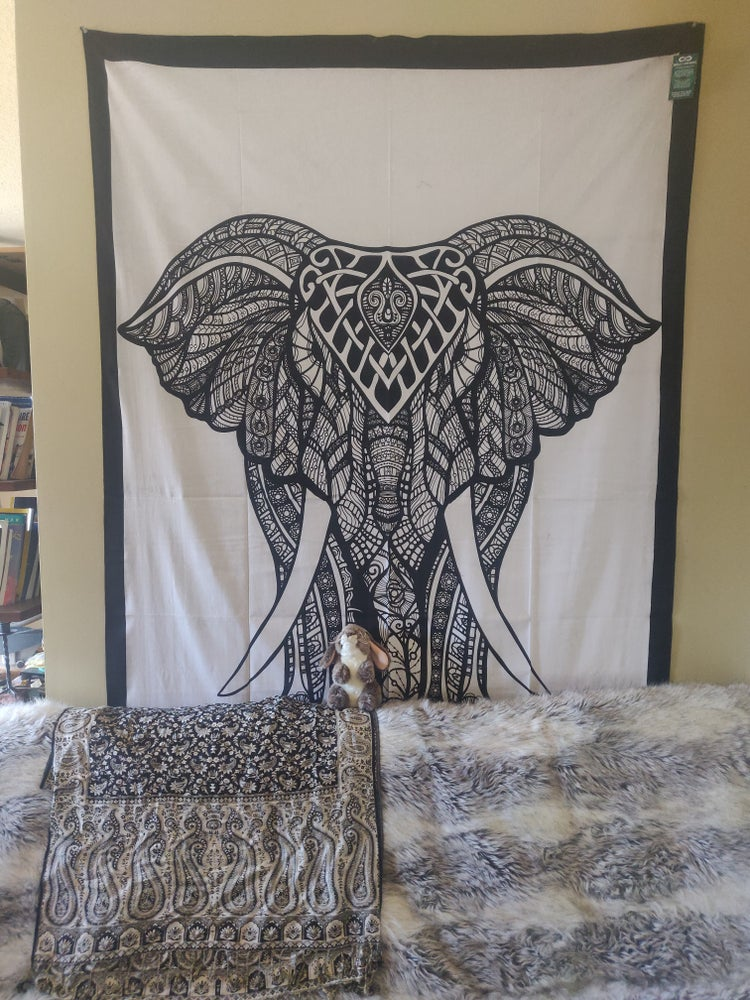 Image of Face Your Fears Elephant Tapestry