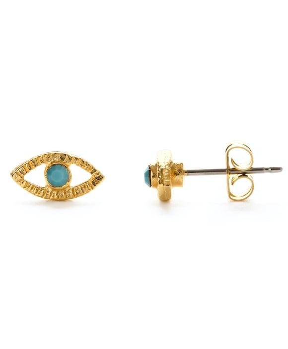 Image of Amano Turquoise Crystal Eye Stud Earrings