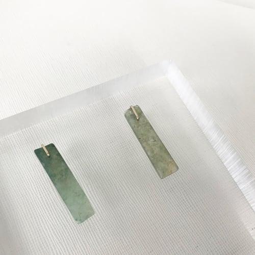 Image of Moss Agate Slice Earrings