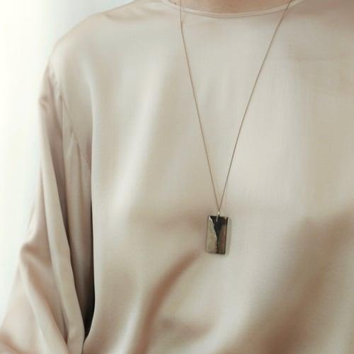 Image of Petrified Wood Pendant Necklace