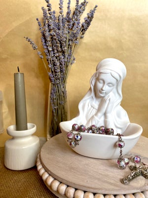 Image of Blessed Mother Rosary Holder/ Holy Water Font