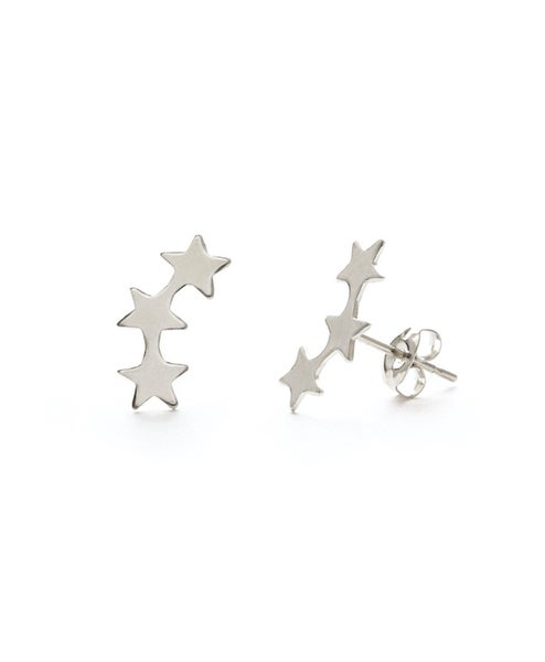 Image of Amano Silver Star Cluster Stud Earrings